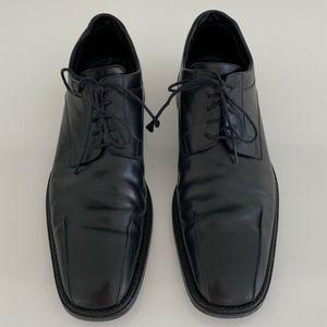 MEN'S COSTUME NATIONAL BLACK LEATHER OXFORD SZ 11